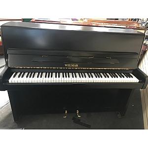 Welmar Matt Black Upright Piano