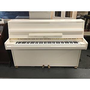 Cranes White Polyester Upright Piano
