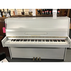 Zimmerman Resprayed Grey Upright Piano.