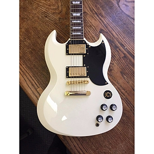 Vintage VR6 SG Electric Guitar (Arctic White)