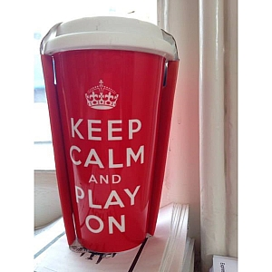 Keep Calm and Play On Thermo Flask