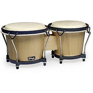 Wood Bongo 6 inch +7 inch Natural