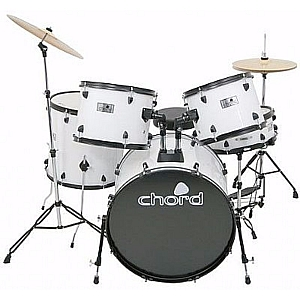 Chord Acoustic Drum Kit (White)