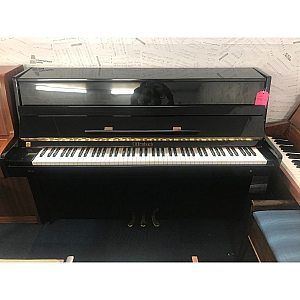 Offenbach Black Polyester Upright Piano
