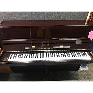 Bechendorfer Dark Cherry Polyester Upright Piano