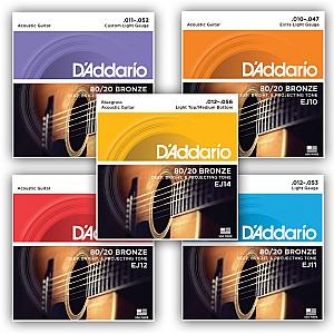 D`addario 80/20 Bronze Acoustic Guitar Strings