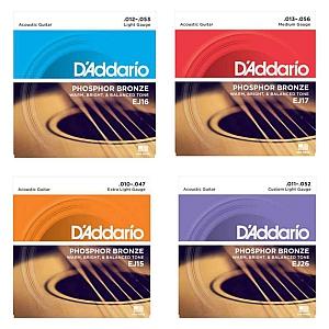 D`addario Phosphor Bronze Acoustic Guitar Strings