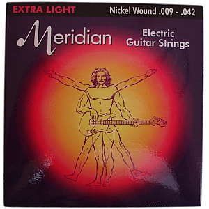 Meridian Extra Light Nickel Wound Electric Guitar Strings