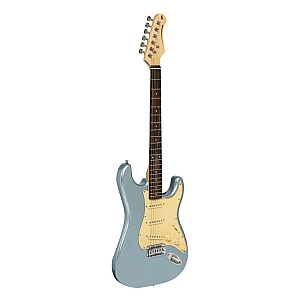 Silvertone S Type Electric Guitar (Ice Blue Metallic)