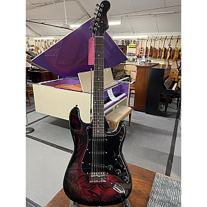 Javille S Type Electric Guitar (Red Flame)