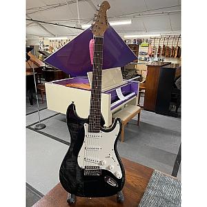 Aria STG Series S Type Electric Guitar (Black)