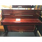 Challen 1804 Red Polyester Upright Piano