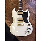 view Vintage VR6 SG Electric Guitar (Arctic White) details