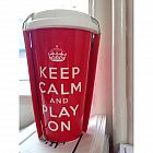 view Keep Calm and Play On Thermo Flask details